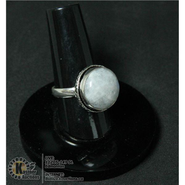 #256-NATURAL MOONSTONE RING SIZE 7