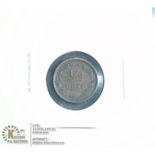 1878 NETHERLANDS COPPER 1/2 CENT