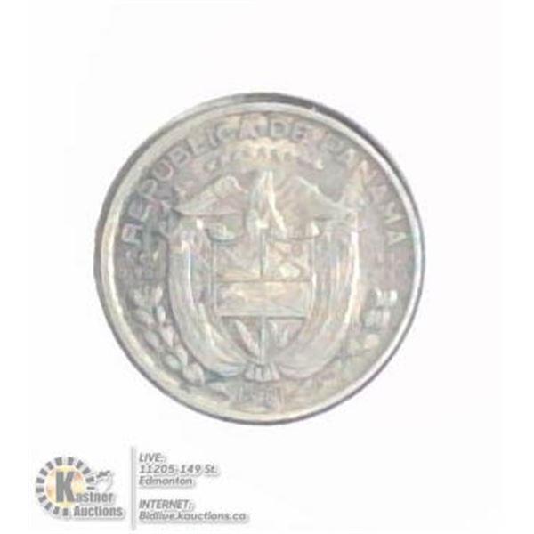 1961 PANAMA SILVER 1/10 BALBOA