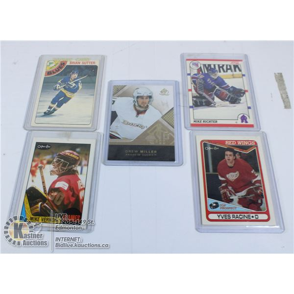 LOT OF 5 ROOKIE CARDS-1 NUMBERED CARD OUT OF /50