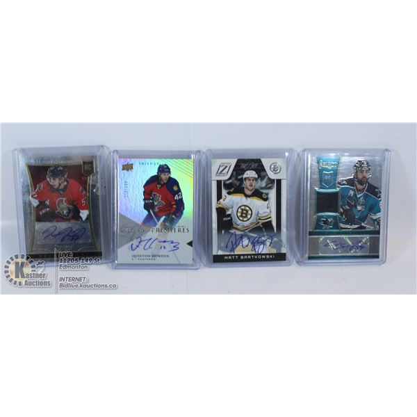 LOT OF 4 ROOKIE AUTOGRAPH CARDS MOST NUMBERED