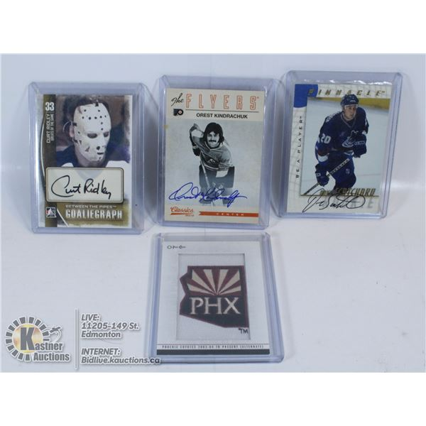 HOCKEY COLLECTORS LOT INCLUDING AUTOGRAPHS & PATCH