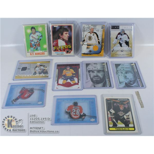 LOT OF HOCKEY INSERTS AND VINTAGE CARDS