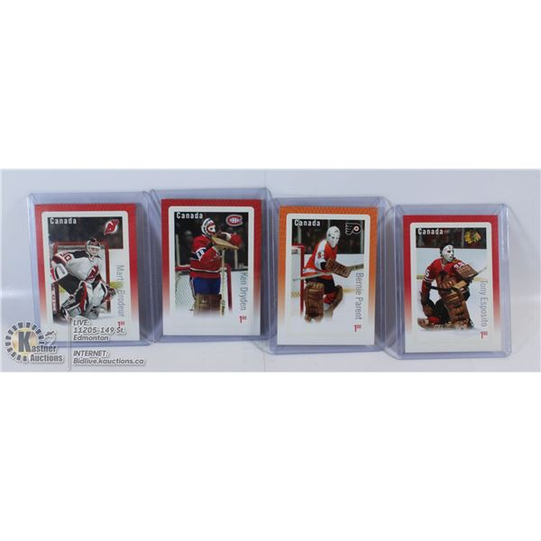 LOT OF 4 2015 HOCKEY STAMPS OF GREAT NHL GOALTENDE