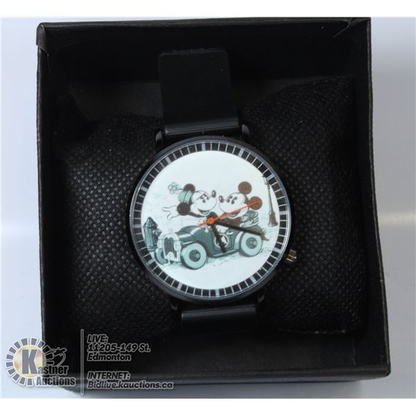 MINNIE AND MICKEY MOUSE QUARTZ MOVE MENT WATCH