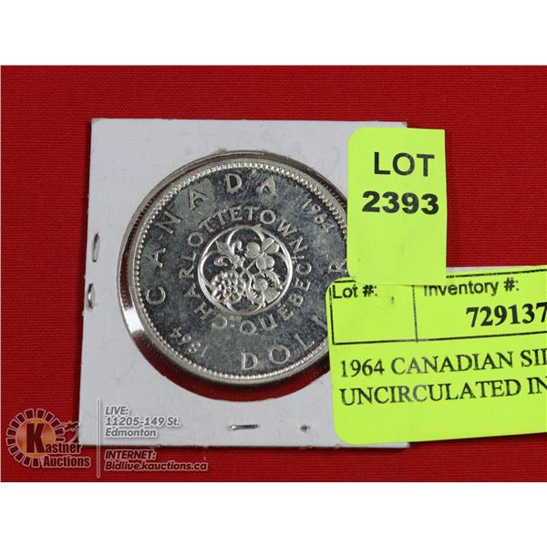 1964 CANADIAN SILVER DOLLAR UNCIRCULATED IN