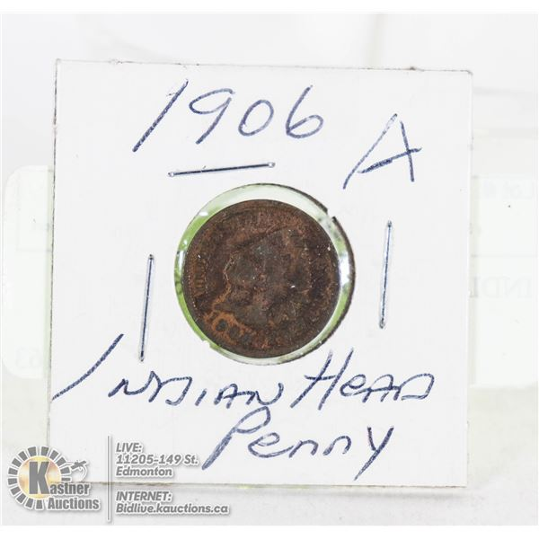 INDIAN HEAD PENNY 1906 A