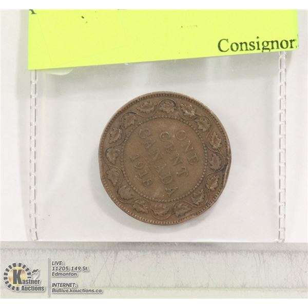 CAD 1918 LARGE PENNY