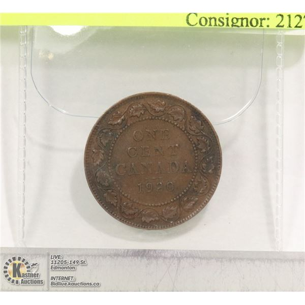 CAD 1920 LARGE PENNY