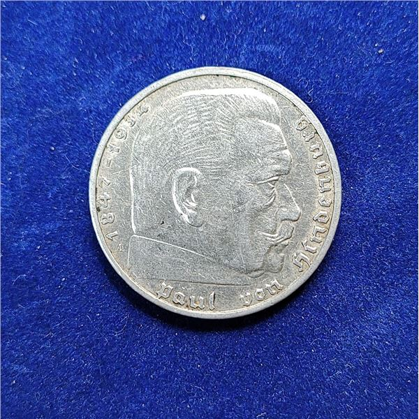 3)  FROM NAZI GERMANY, 1939A, 2 REICHS MARK