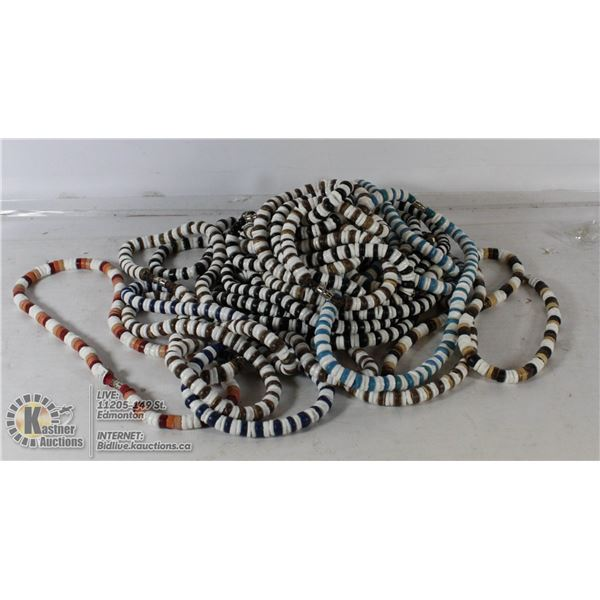BAG OF BEADED NECKLACES