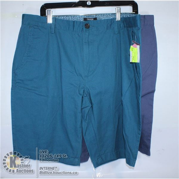 2 PAIRS OF SHORTS SIZE 36 BLUE AND TEAL