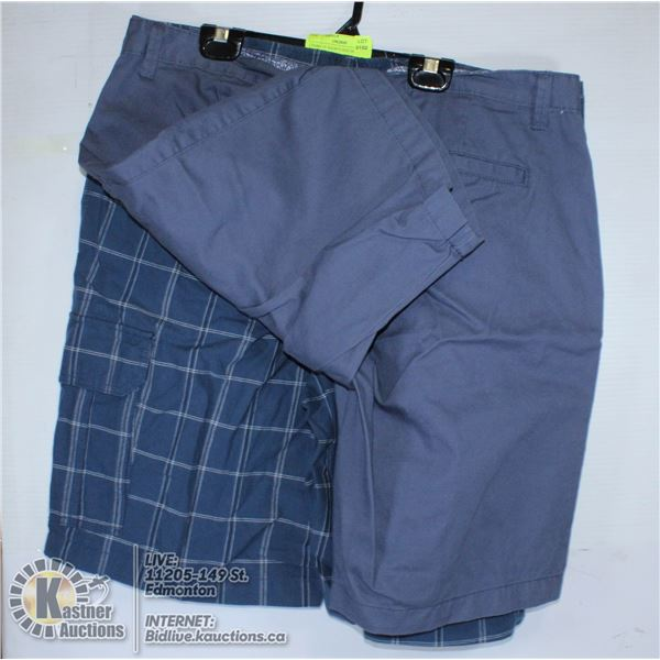 2 PAIRS OF SHORTS SIZE 36