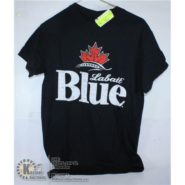 BLACK T-SHIRT LABATT BLUE SIZE S