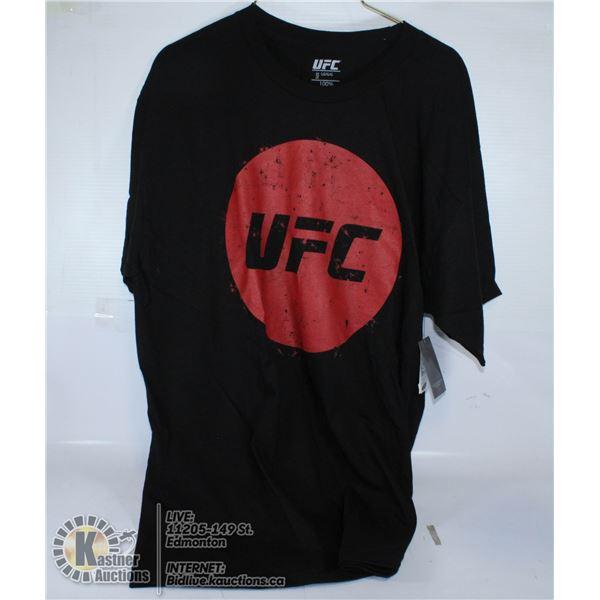 BLACK T-SHIRT UFC SIZE L