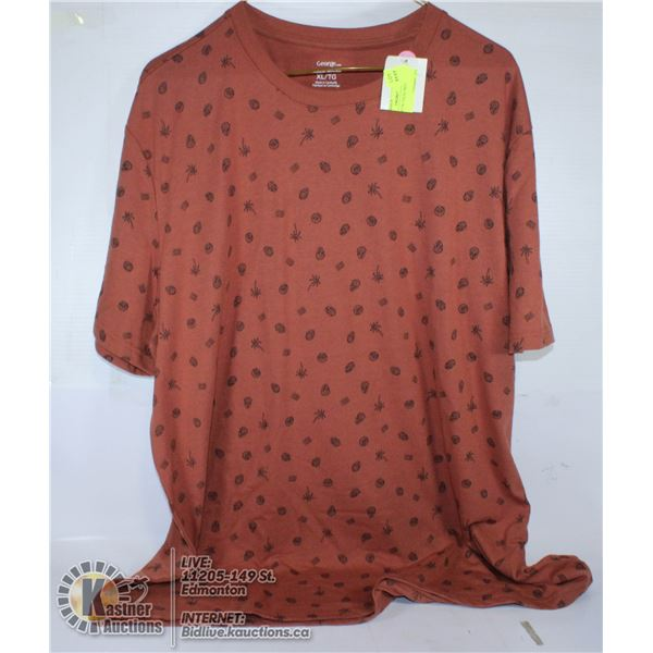 RED T-SHIRT W/ PALM TREES SIZE XL