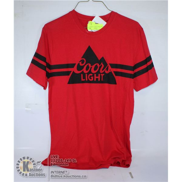 RED T-SHIRT COORS LIGHT SIZE S
