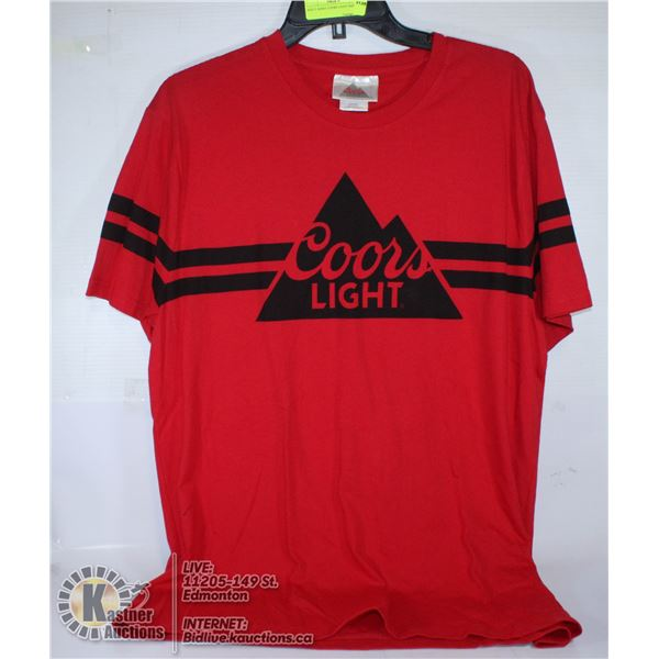RED T-SHIRT COORS LIGHT SIZE L