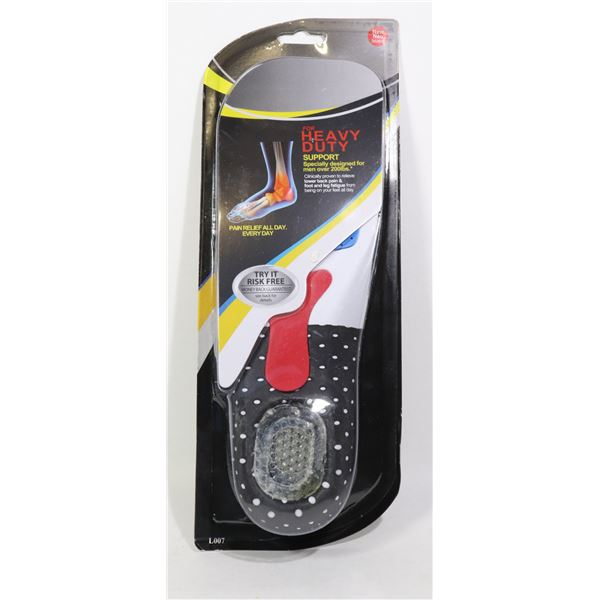 NEW HEAVY DUTY SUPPORT TRIMMABLE MENS INSOLES