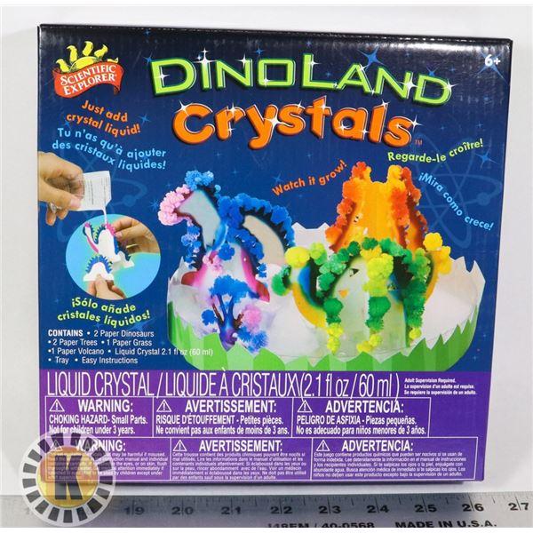 NEW DINOLAND CRYSTALS KIT