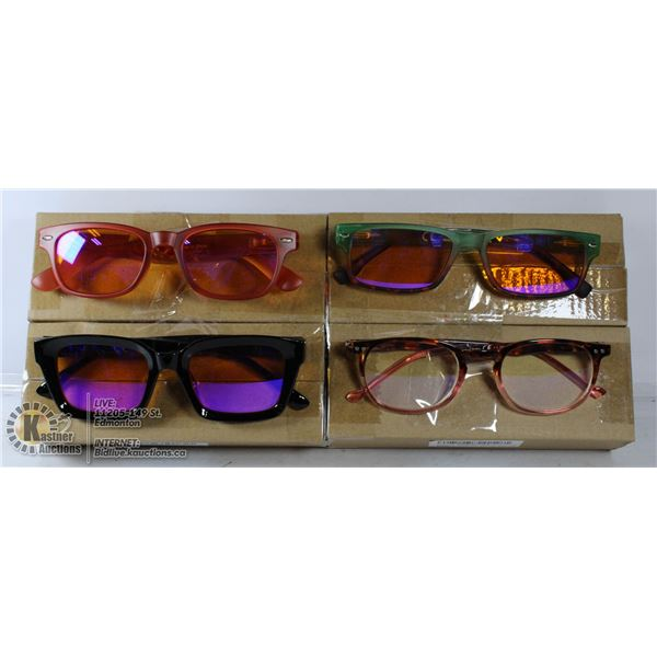LOT OF 3 TRANSITIONAL READING GLASSES. +1
