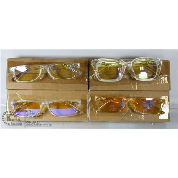 LOT OF 4 TRANSITIONAL READING GLASSES. +1.25