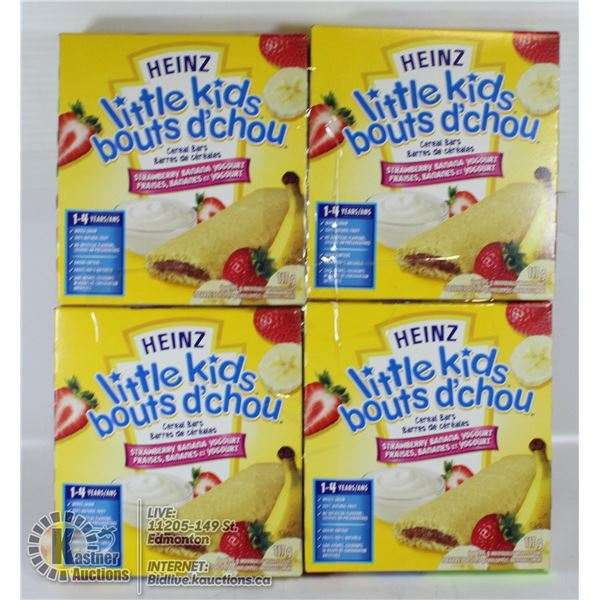 4 X HEINZ LITTLE KIDS CEREAL BARS STRAWBERRY BANAN