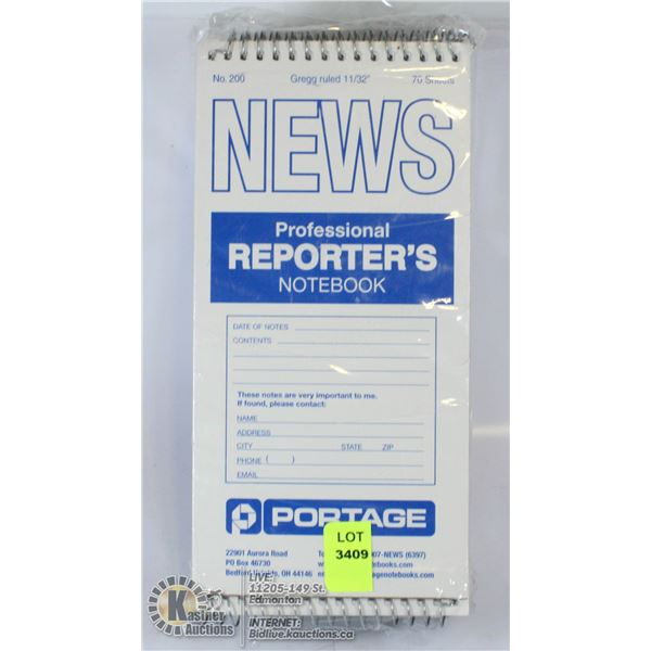 LOT OF 12 NEW PROFESSIONAL REPORTER'S NOTEBOOKS
