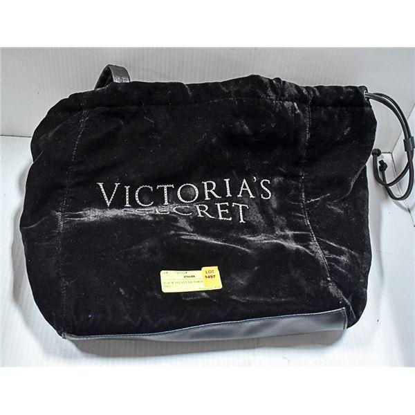BLACK VELVET VICTORIA SECRET BAG