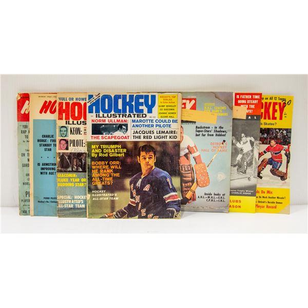 7 X 1960'S HOCKEY MAGAZINES ORR FORGOTTEN HISTORY