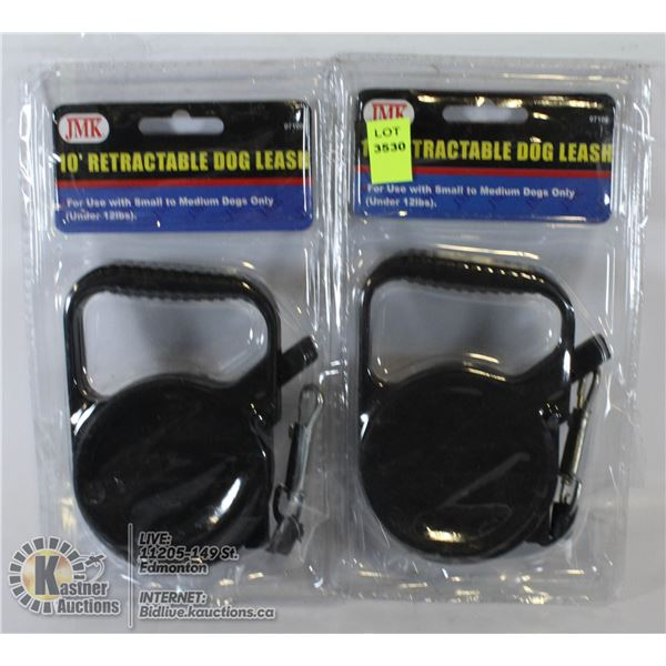 LOT OF 2 NEW RETRACTABLE DOG LEASHES. FOR DOGS