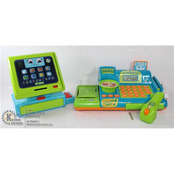 PAIR OF LEAP FROG COUNT ALONG CASH REGISTERS