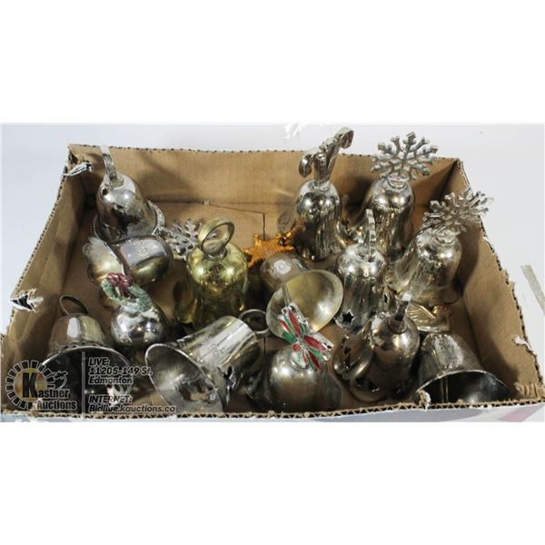 BOX OF ELECTROPLATED BELLS