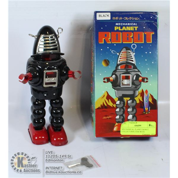 MECHANICAL PLANET ROBOT COLLECTOR'S ITEM WITH