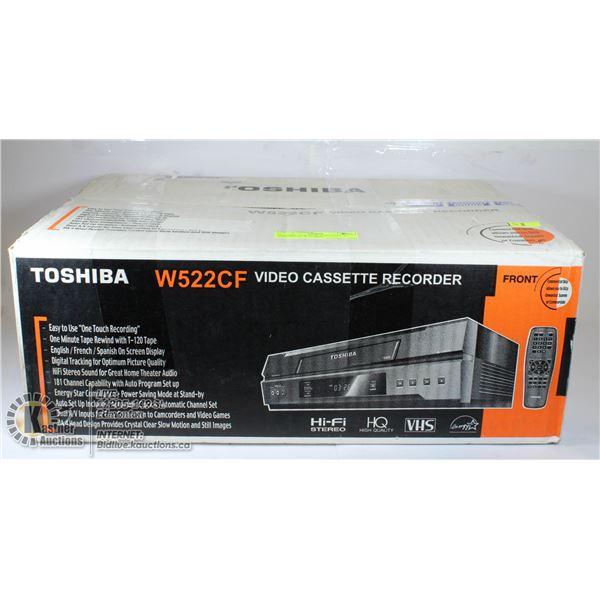 TOSHIBA VCR NEW AND STILL IN BOX;  DUAL A/V, HIFI