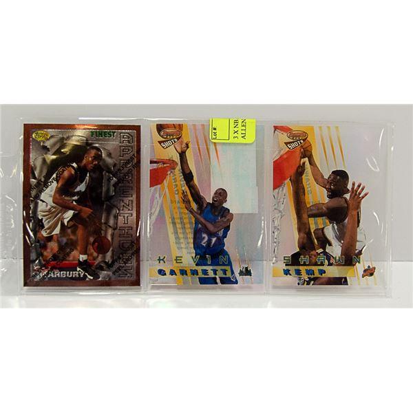 3 X NBA STAR CARDS INSERTS ALLEN / HOWARD ETC.