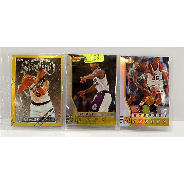 3 X NBA STAR CARDS INSERTS KEMP / GARNETT ETC.