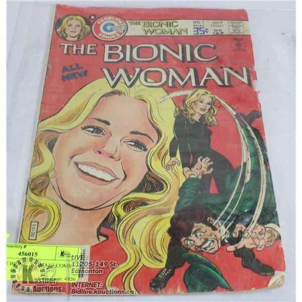 "RARE ""THE BIONIC WOMAN"" COMIC BOOK NO.1  OCT 197"