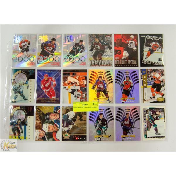 18 NHL MONEY STAR INSERT CARDS