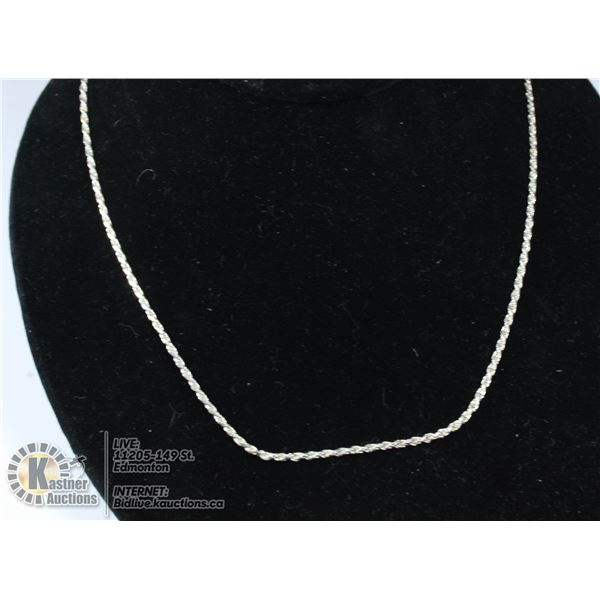 925 STERLING SILVER ROPE NECKLACE