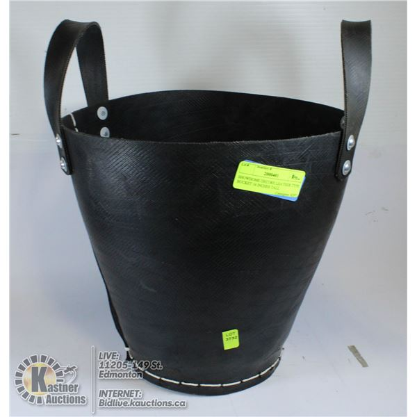 SHOWHOME DECORE LEATHER TYPE BUCKET 16 INCHES TALL