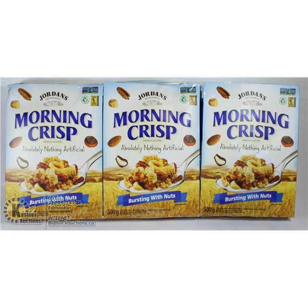 3 X MORNING CRISP GRANOLA CLUSTERS