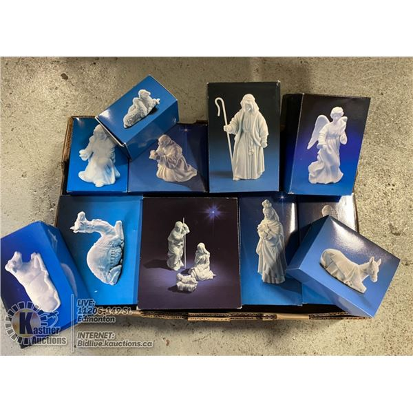 FLAT OF AVON NATIVITY COLLECTIBLES.