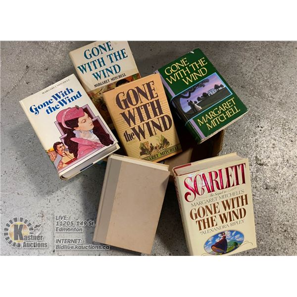 """5 DIFFERENT PRINTINGS OF """"GONE WITH THE WIND"""""""