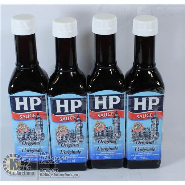 LOT OF 4 ORIGINAL HP SAUCE