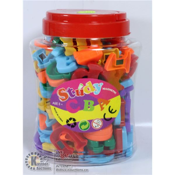 STUDY ABD MAGNETIC LETTERS AND NUMBERS 162 PCS