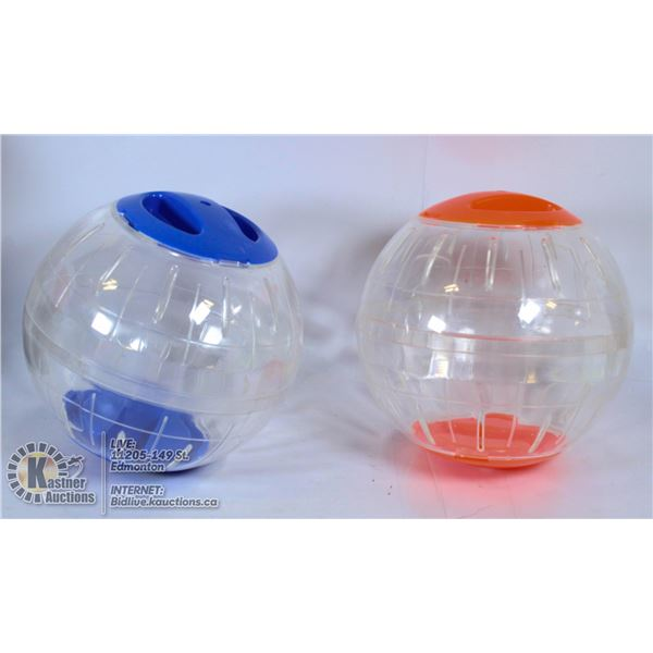 LOT OF 2 MOUSE EXCERSISE BALL