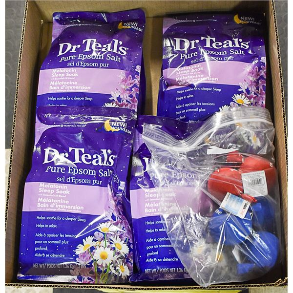 FLAT LOT OF DR. TEALS EPSOM SALT BAGS