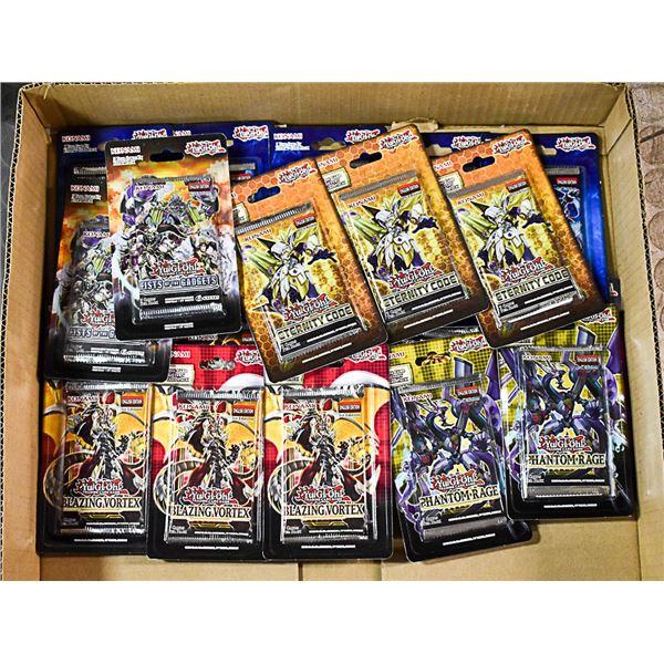 FLAT LOT OF VARIOUS YU-GI-OH! CARD PACKS