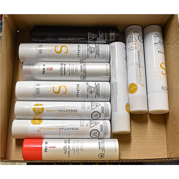 FLAT LOT OF TOP BRAND HAIR SPRAY PRODUCTS